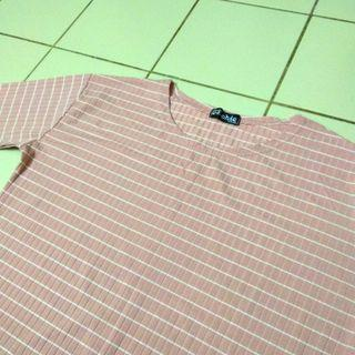 Stripes Long sleeve shirt in Pink #1010