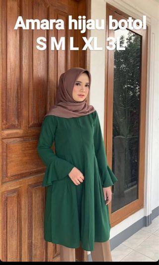 Amara tunic greenbottle