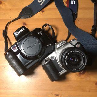 Canon EOS 5 + Canon EOS Kiss w/ lens Film Camera