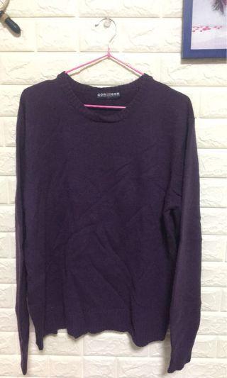 深紫色毛衣針織上衣