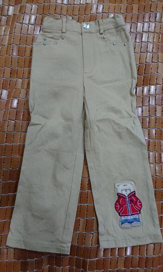 男童卡其彈性長褲(4-6歲)