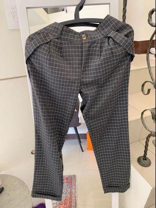 格子老爺褲