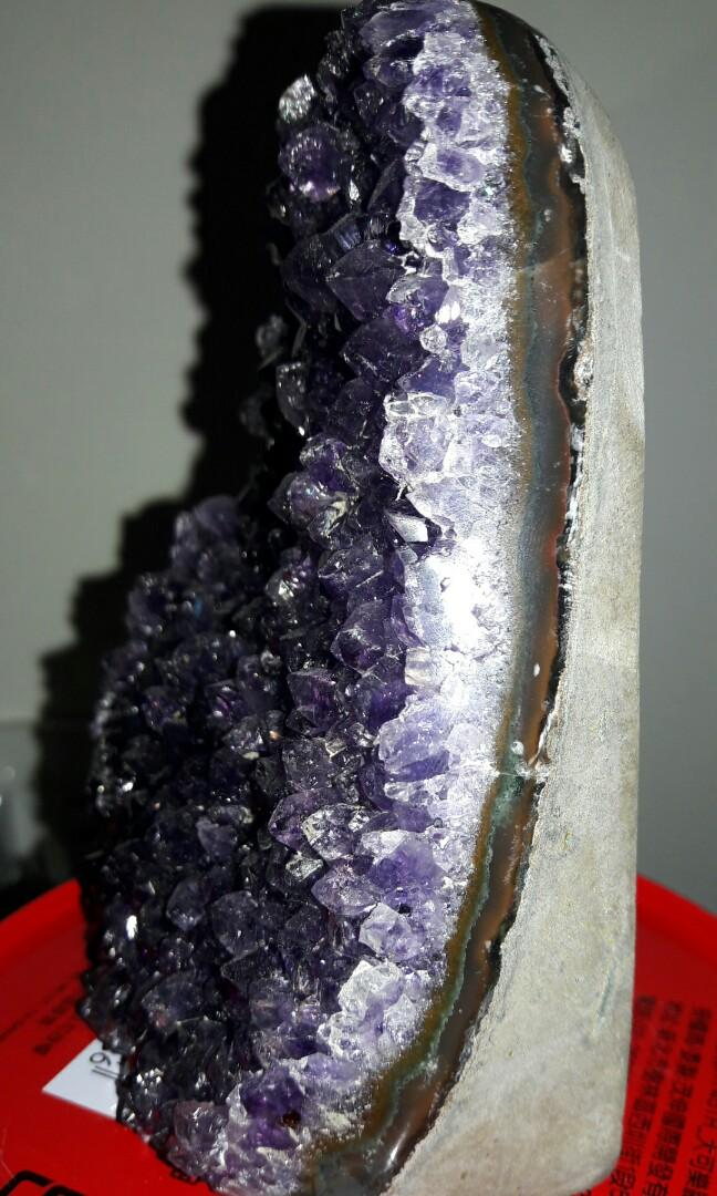頂級烏拉圭紫晶片,烏拉圭紫晶片,烏拉圭紫晶鎮,紫水晶片,紫水晶鎮,710公克