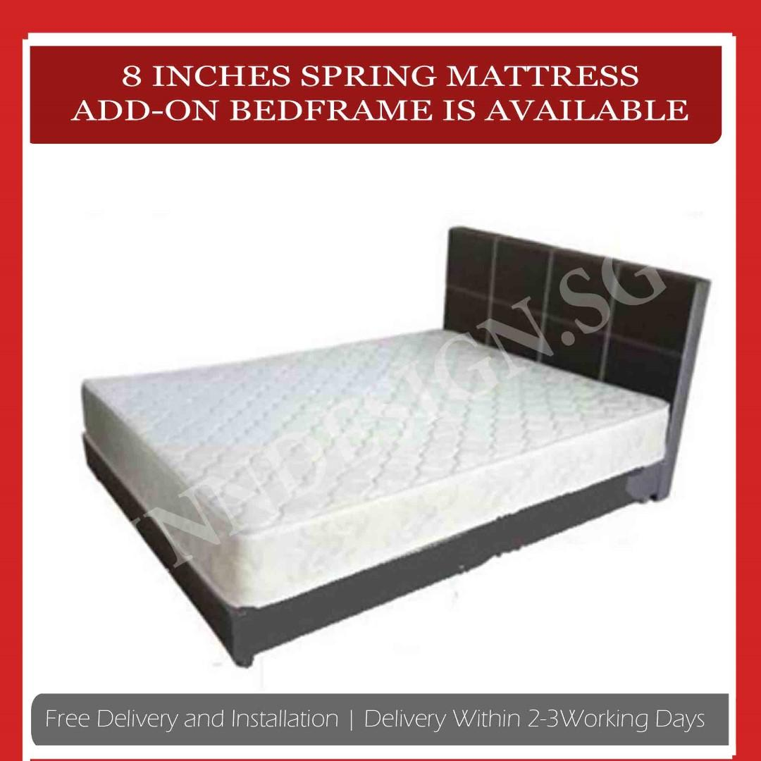 """8"""" Bonnell Spring Mattress (Add-on Bedframe Available)"""