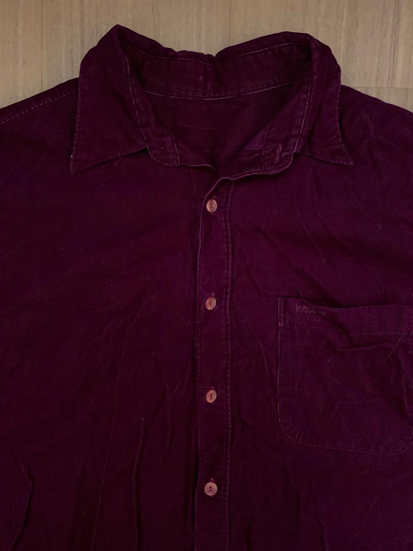 70s 紫色古著襯衫