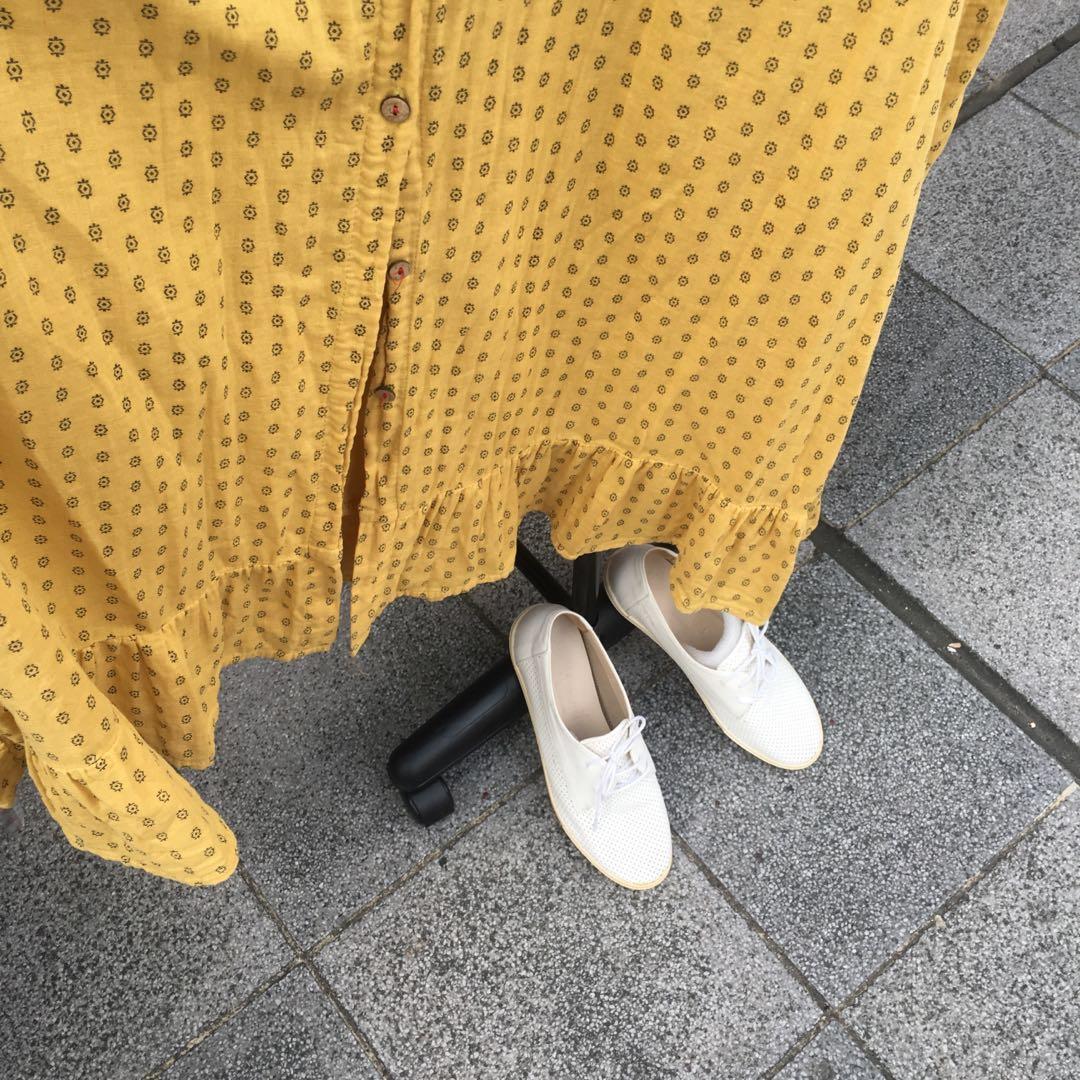 日系鄉村風棉麻洋裝