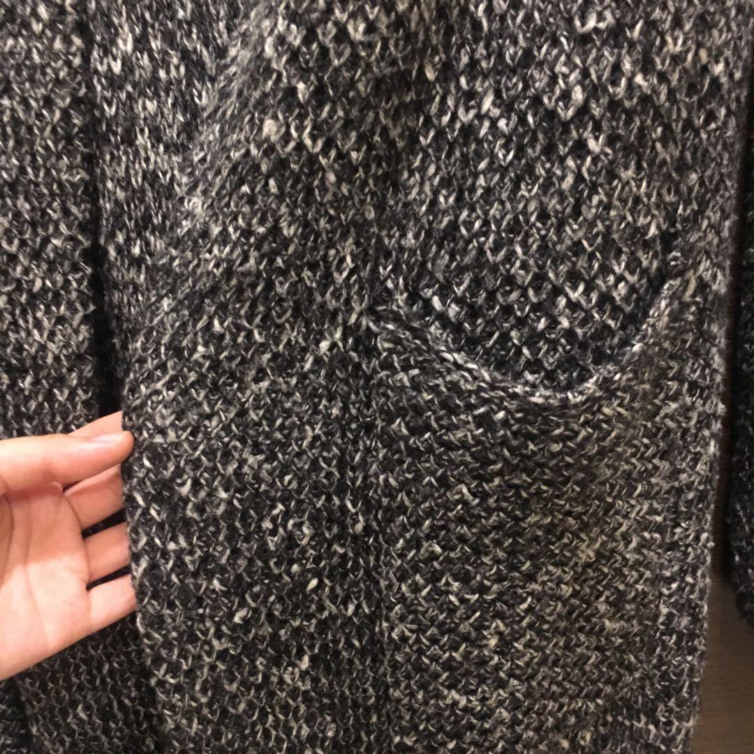 長版毛衣外套