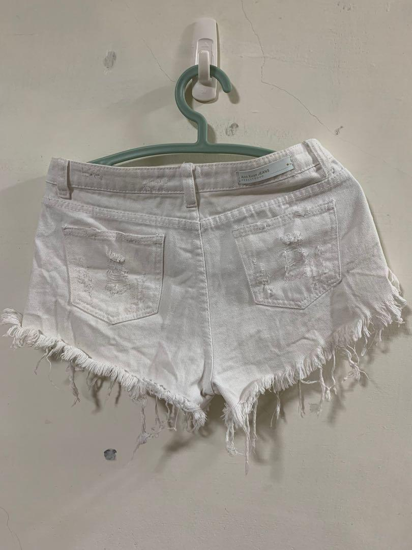 白色高腰褲
