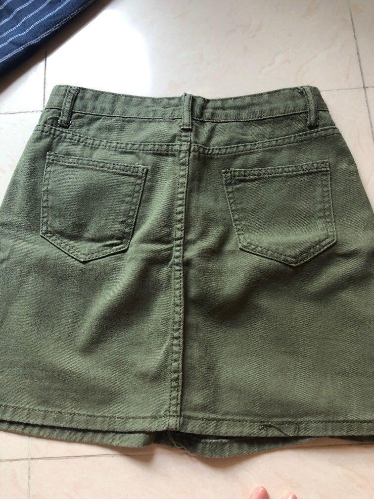 牛仔短褲 短裙