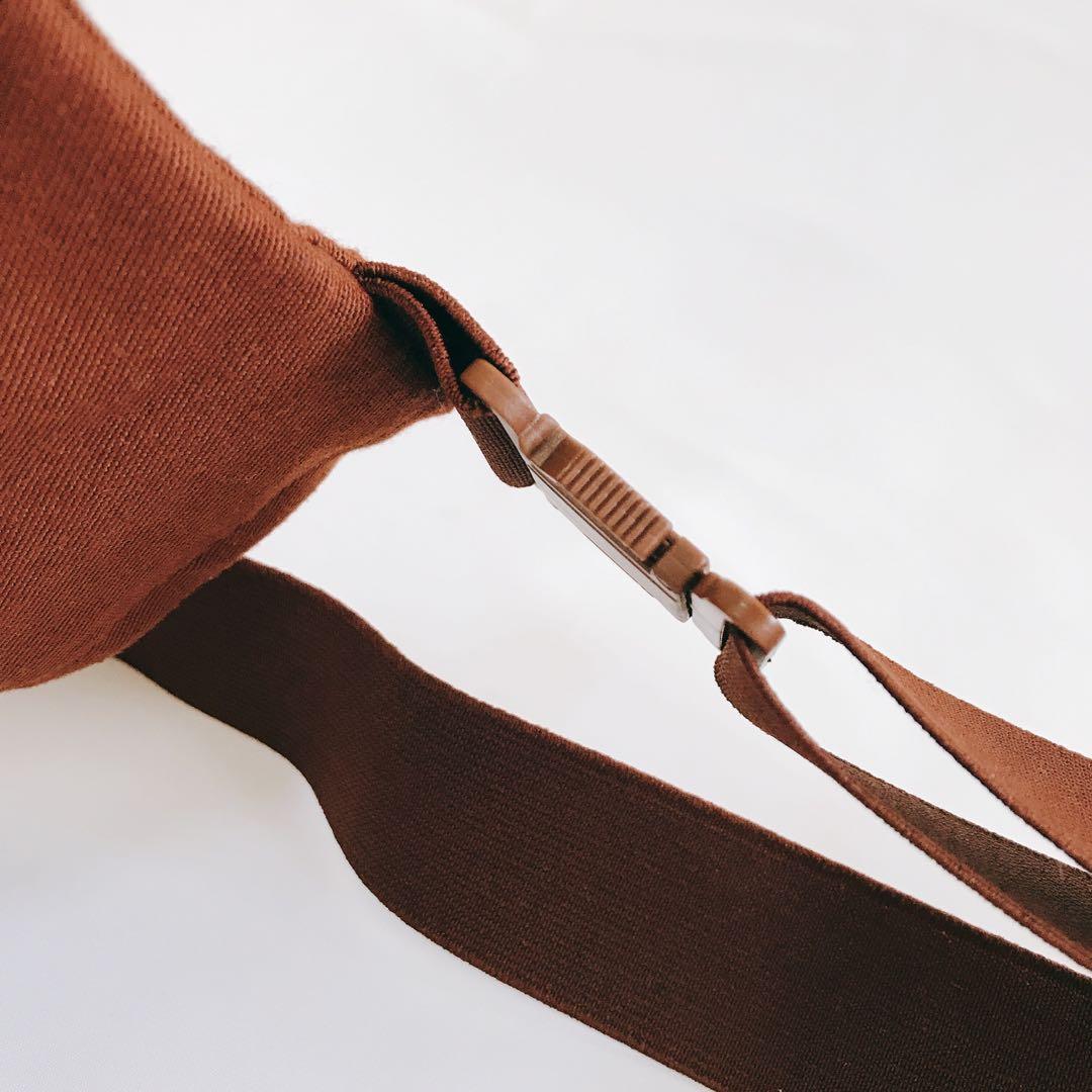 旅行貼身腰包 防扒 隱密袋 暗紅