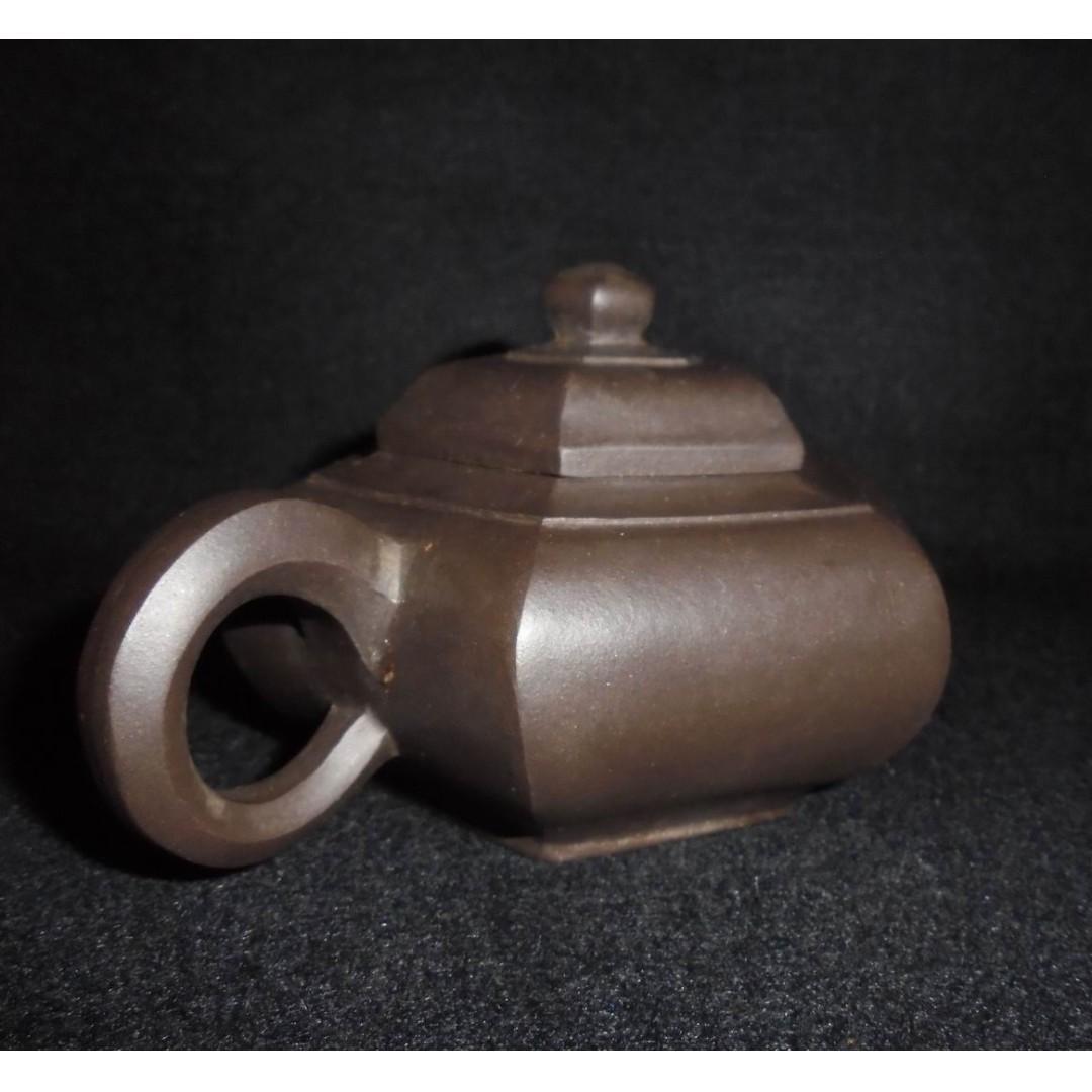 宜興紫砂 八十年代 名家 宋寶娟 六方宮灯壺