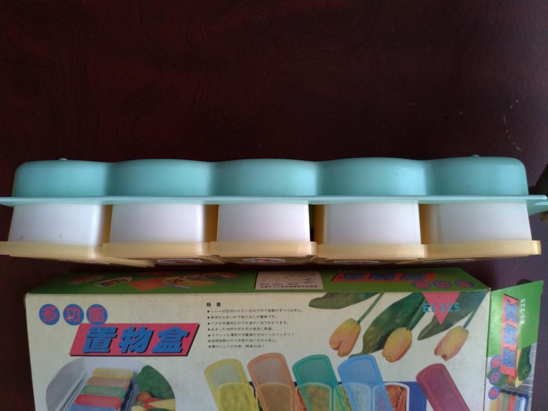 土城寶店 全新 精緻 收納盒 保鮮盒 5入 耐熱 耐冰 方便 乾淨 衛生