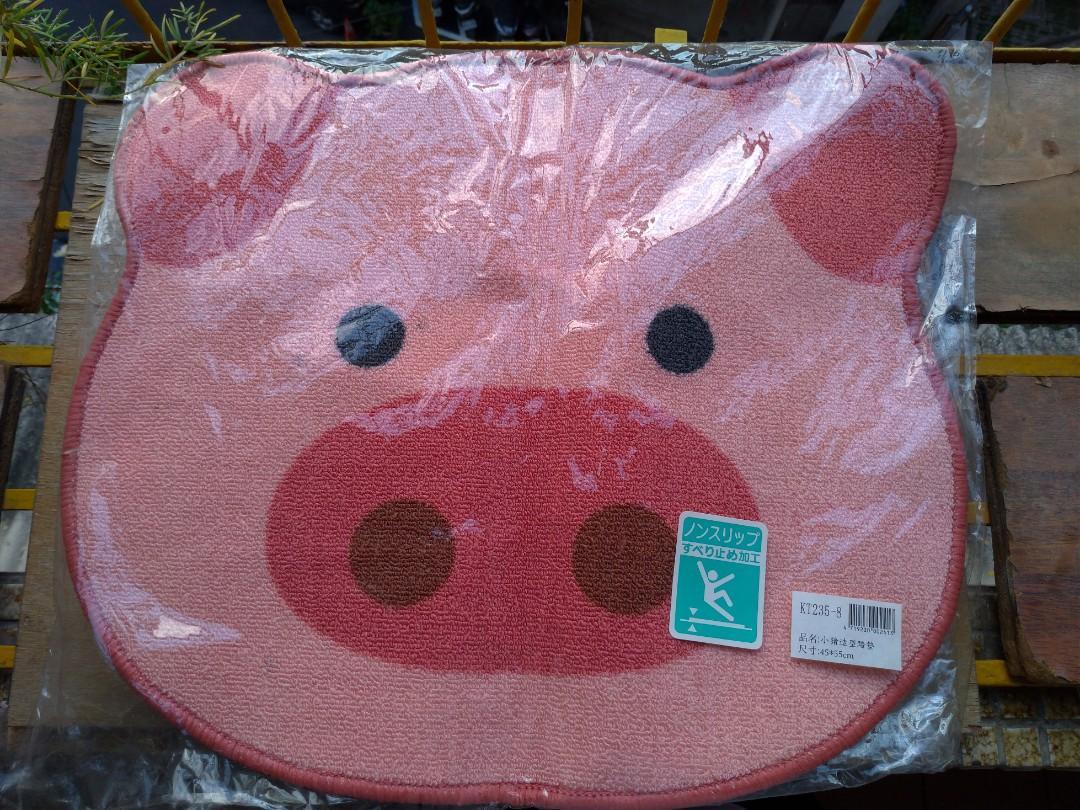 土城寶店 全新 止滑墊 地墊 粉紅 豬 造型