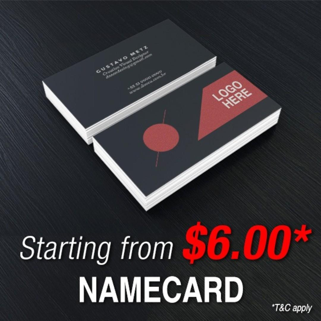 Affordable Laminated Namecard Printing Service - Custom Design Service Available