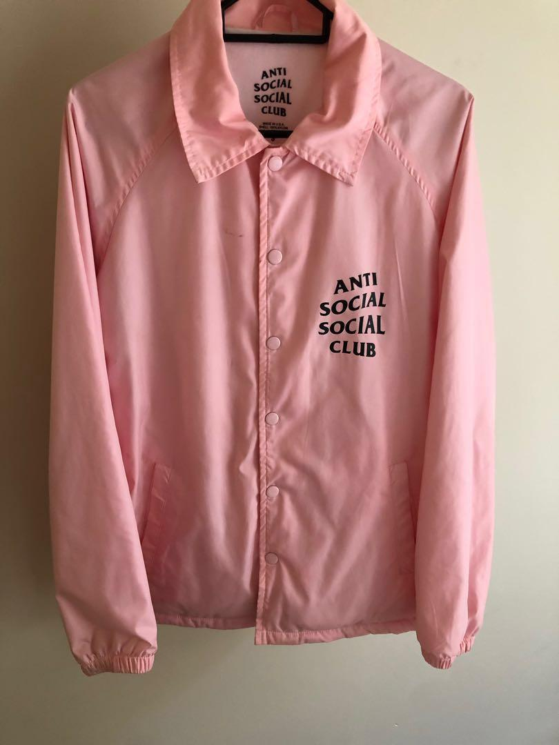 ANTI SOCIAL SOCIAL CLUB - BABY PINK WINDBREAKER.   *AUTHENTIC*