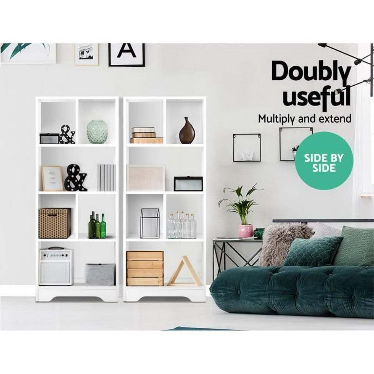 Artiss Display Shelf Bookcase Storage Cabinet Bookshelf Bookcase Home Office White