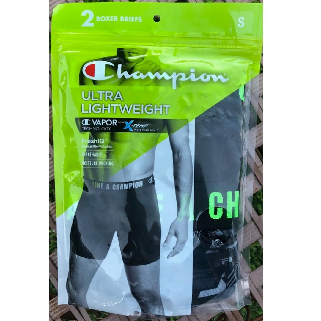 Authentic ChampionMen'sUltraLightweightBoxerBrief SIZE S