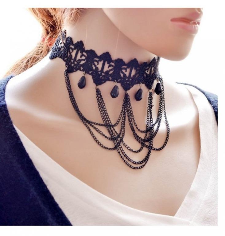 Beautiful Blue Choker Necklace #25