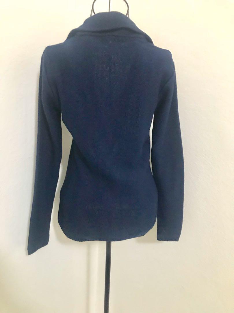 Brand new Georgio De Mare dark blue jacket/cardigan (size s)