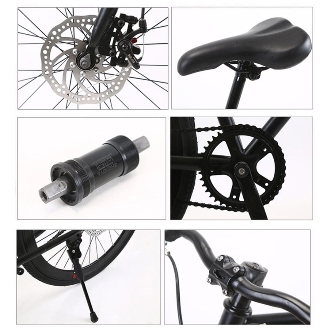 "*BrandNew* 26"" Black Frame & Black Rim Fixie With Black Tyre Disc Brakes New Bicycle"