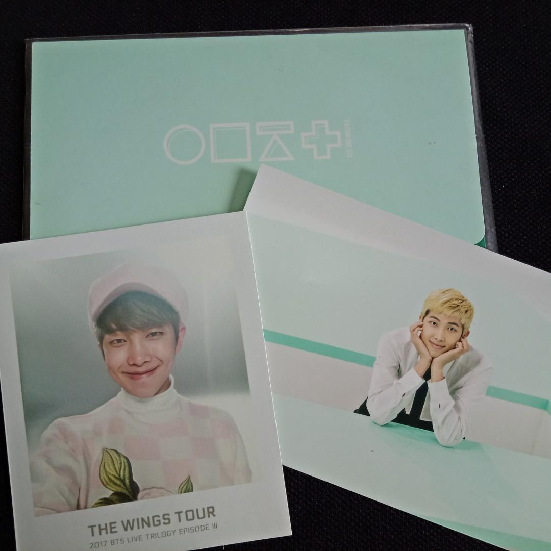[BTS CLEARANCE SALE] RM The Wings Tour Polaroid + 3rd Muster Postcard + Envelope