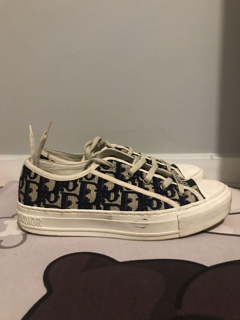 Christian Dior Walk'N'Dior Sneaker in Oblique Embroidered Canvas