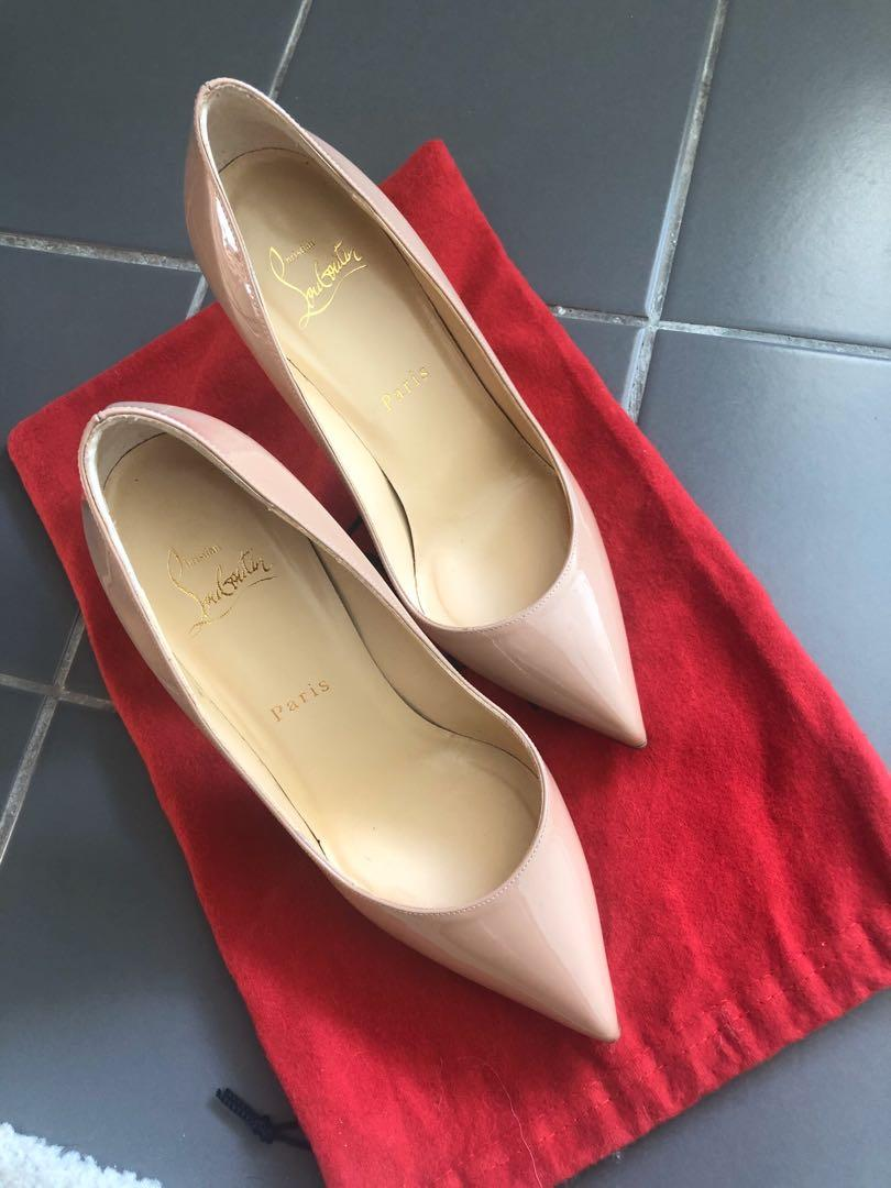 CHRISTIAN LOUBOUTIN Pigalle 100 patent leather pumps Size 37
