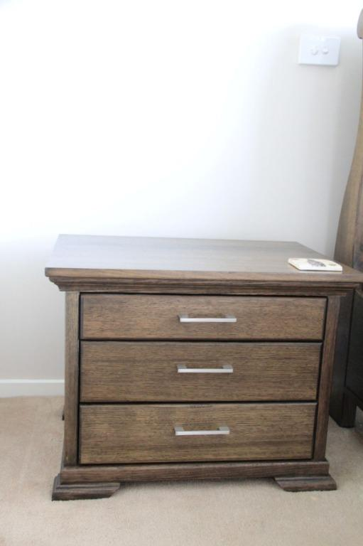 """""""Coringle""""  Australian made Queen bedroom suite, includes side tables and dresser"""