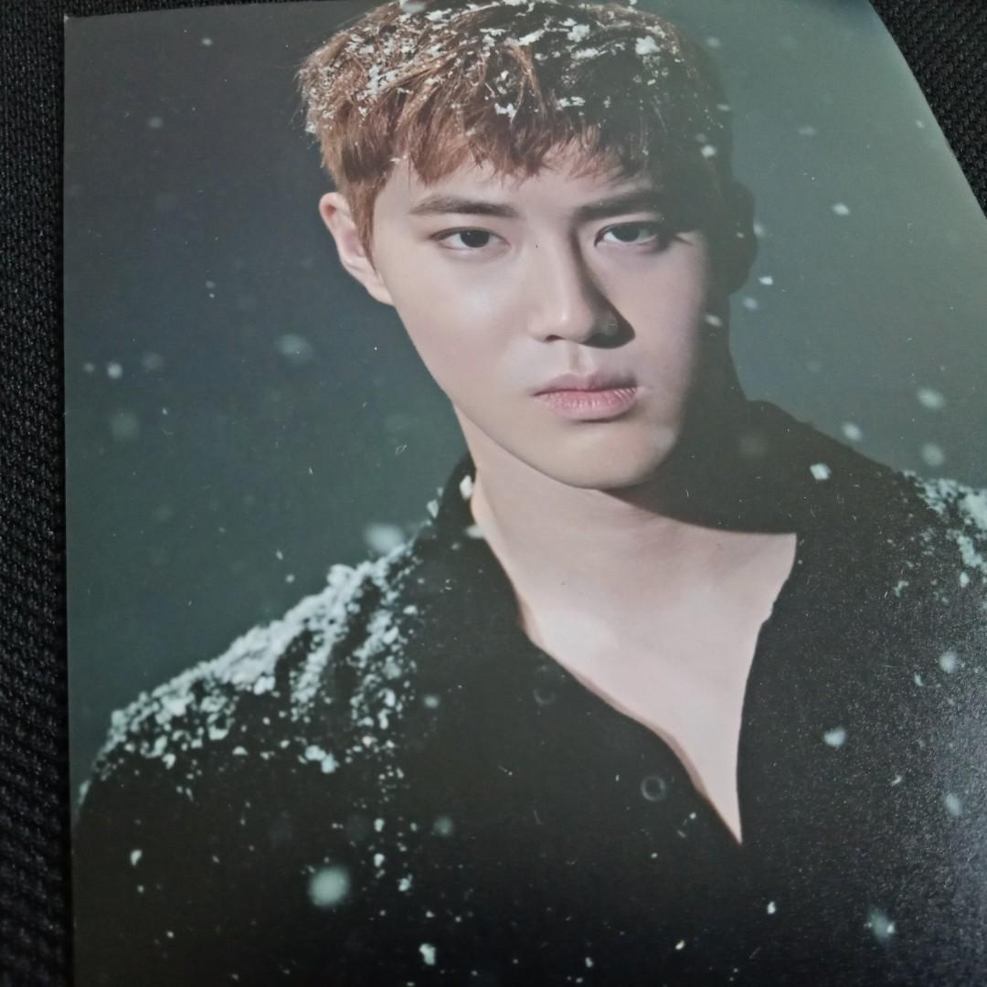 [EXO CLEARANCE SALE] SUHO Overdose Official Photocard + Sing For You SUM Goods Photo