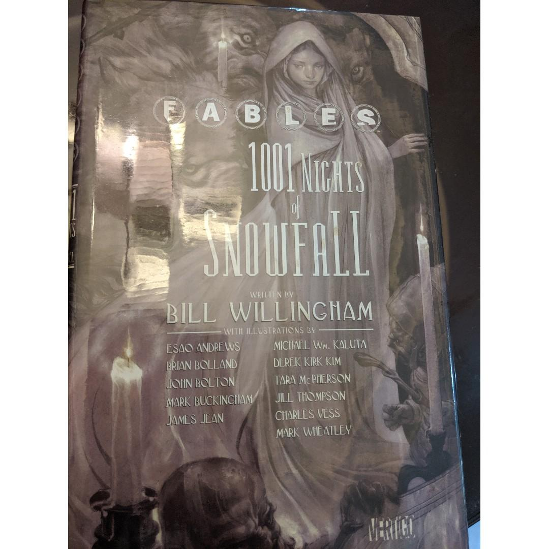 Fables TPB 1-11, 1001 Nights of Snowfall HC, Jack of Fables TPB 1-2 Comics, Bill Willingham, James Jean