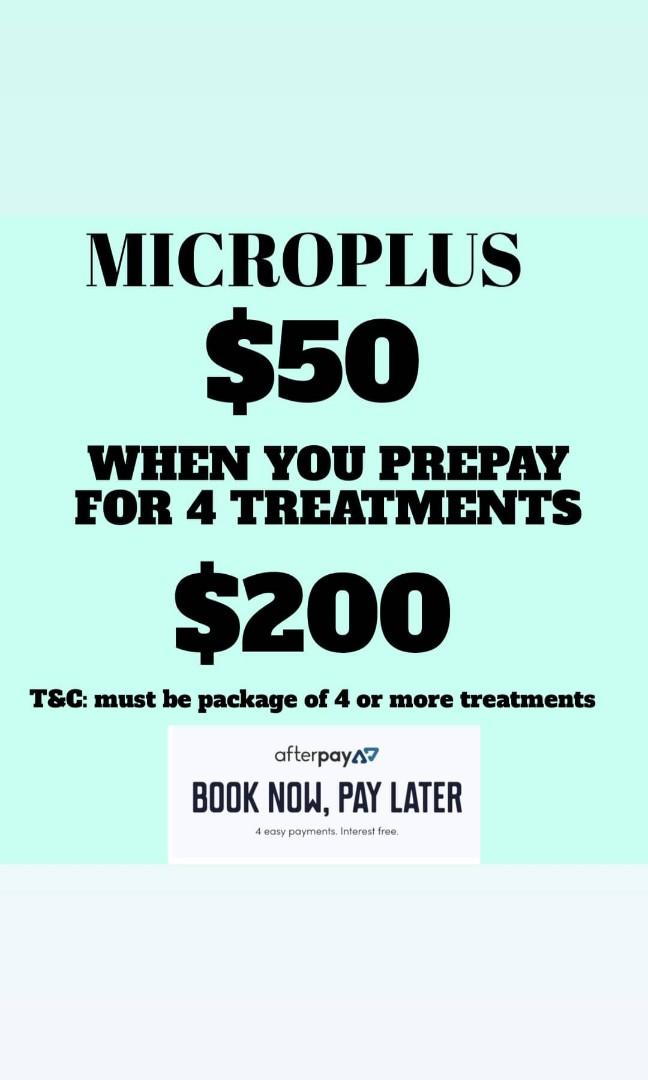 Facial microplus special when you buy a pack of 4