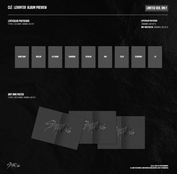 [FAST ORDER] STRAY KIDS - Cle : LEVANTER (LIMITED VER.)