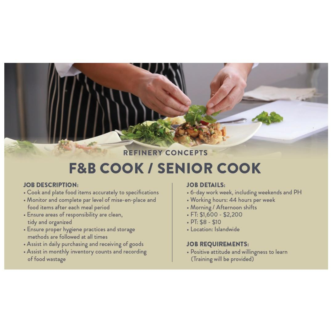 F&B Cook (Asian / Local Cuisine | $1,000 Welcome Bonus*)