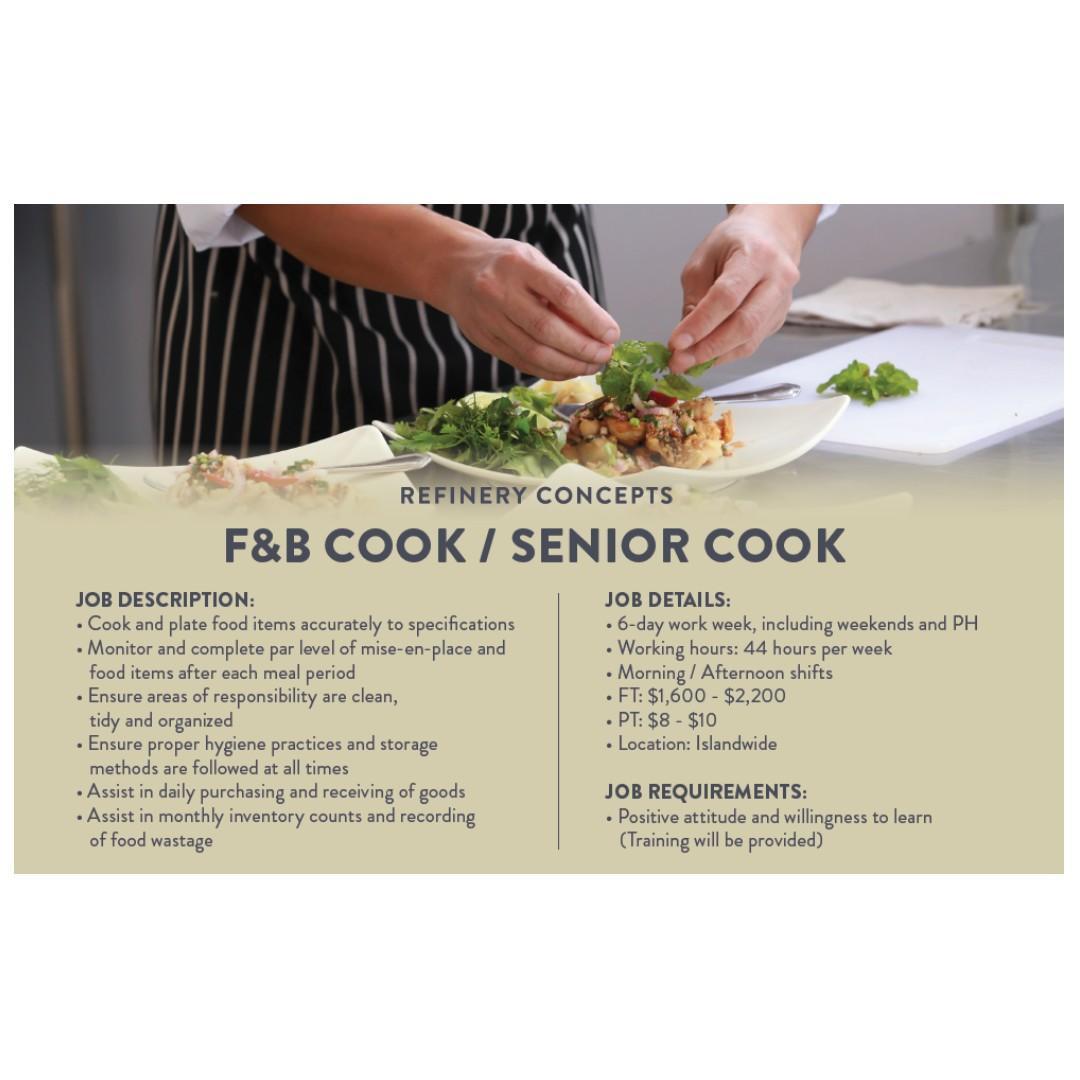 F&B Cook (Western Cuisine | Orchard | AWS + Welcome Bonus*)
