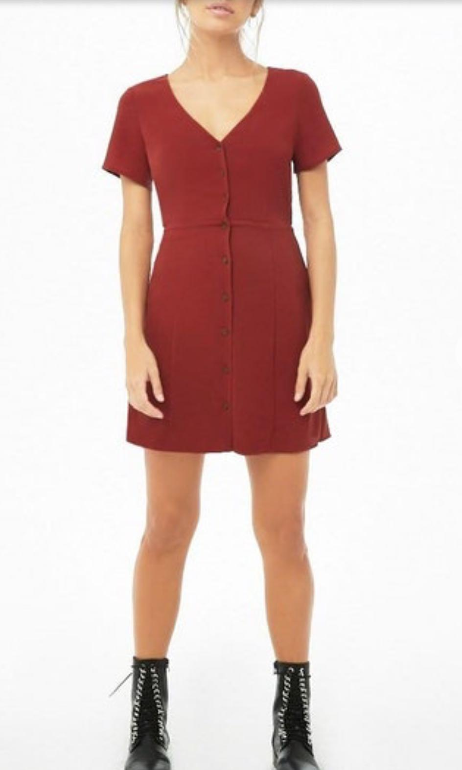 Forever 21 Button-Front Mini Dress