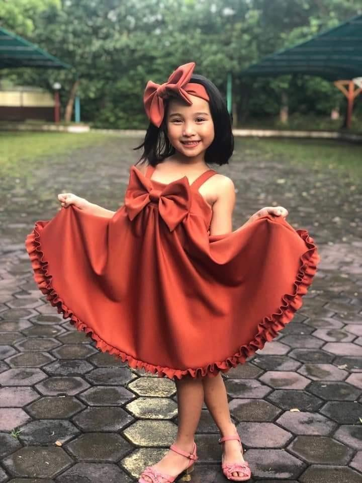 Girl Dress with Ribbon