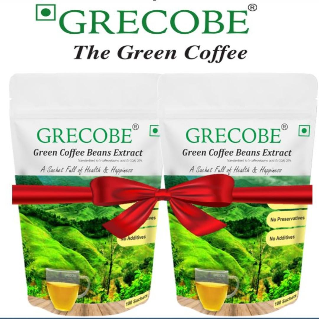 Grecobe Green Coffee Combo 200 Sachets Slimming Instant Best
