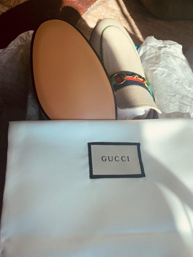 Gucci Princetown Canvas Mules - NWT
