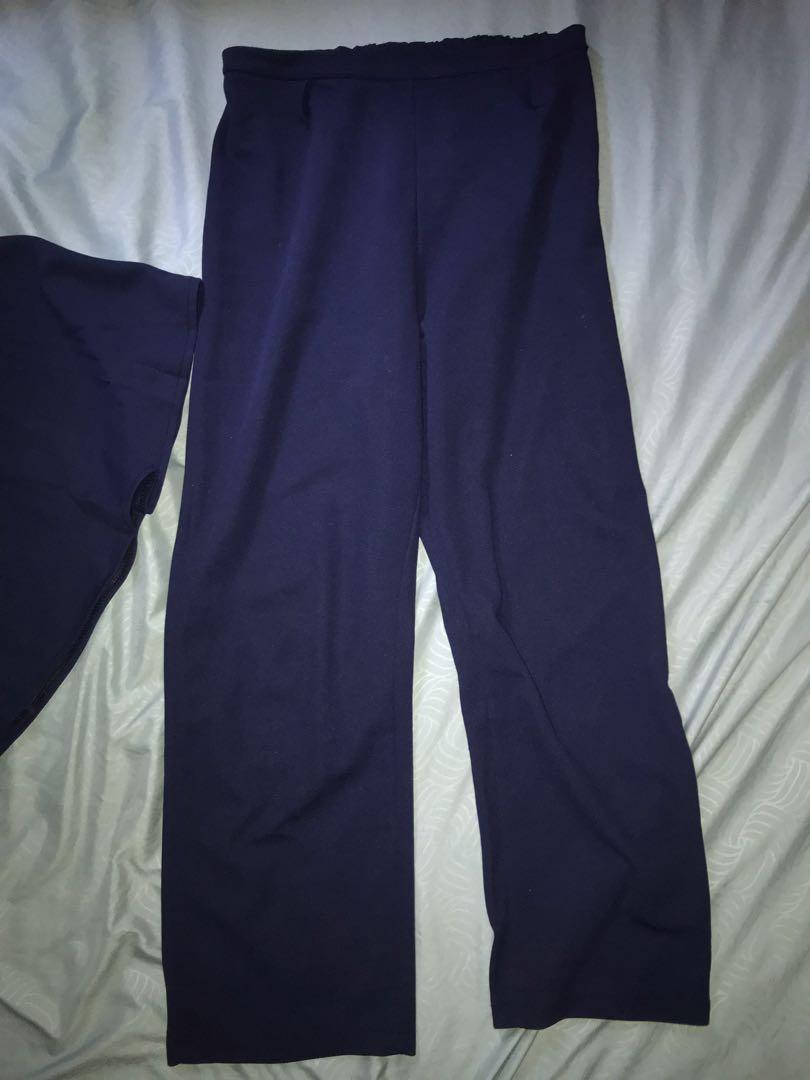 Halter Crop Top + Loose Nine length pants two piece set