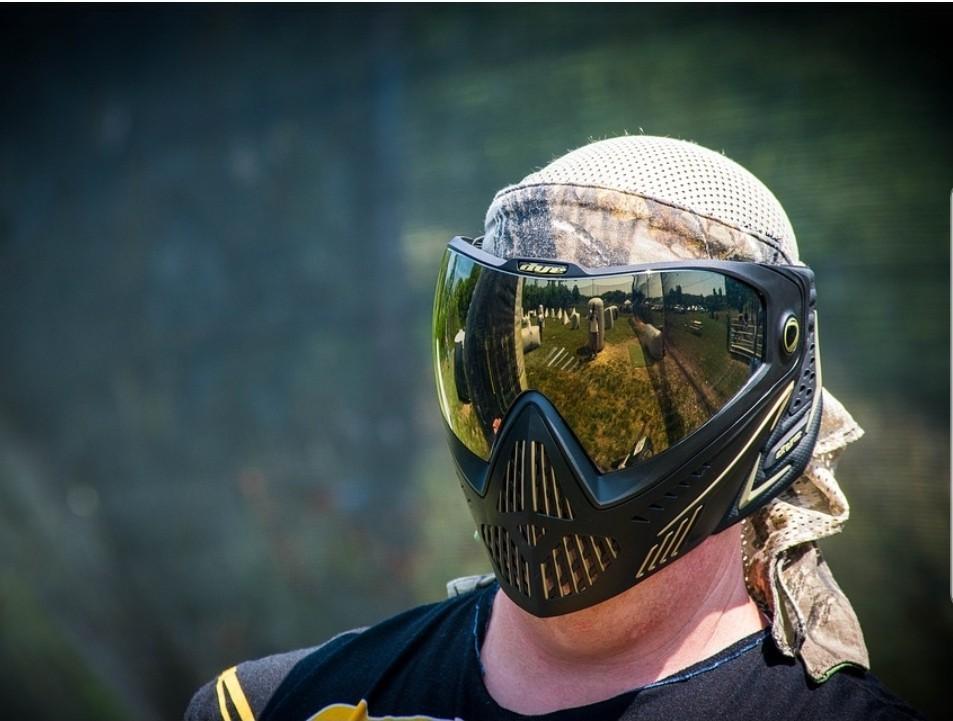 HELIX Paintball Mask + Paintball Camo Tactical VEST