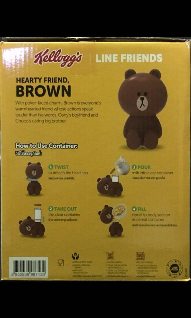 Kelogg's LINE Friends Brown Cereal Container