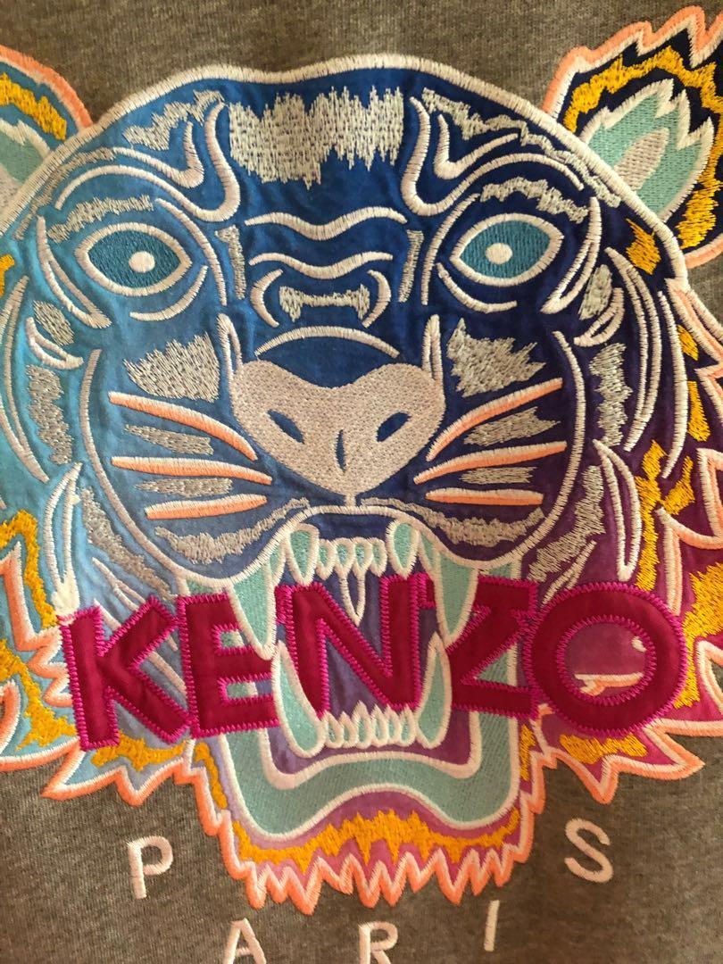 Kenzo - Embroidered cotton sweatshirt.   *AUTHENTIC*