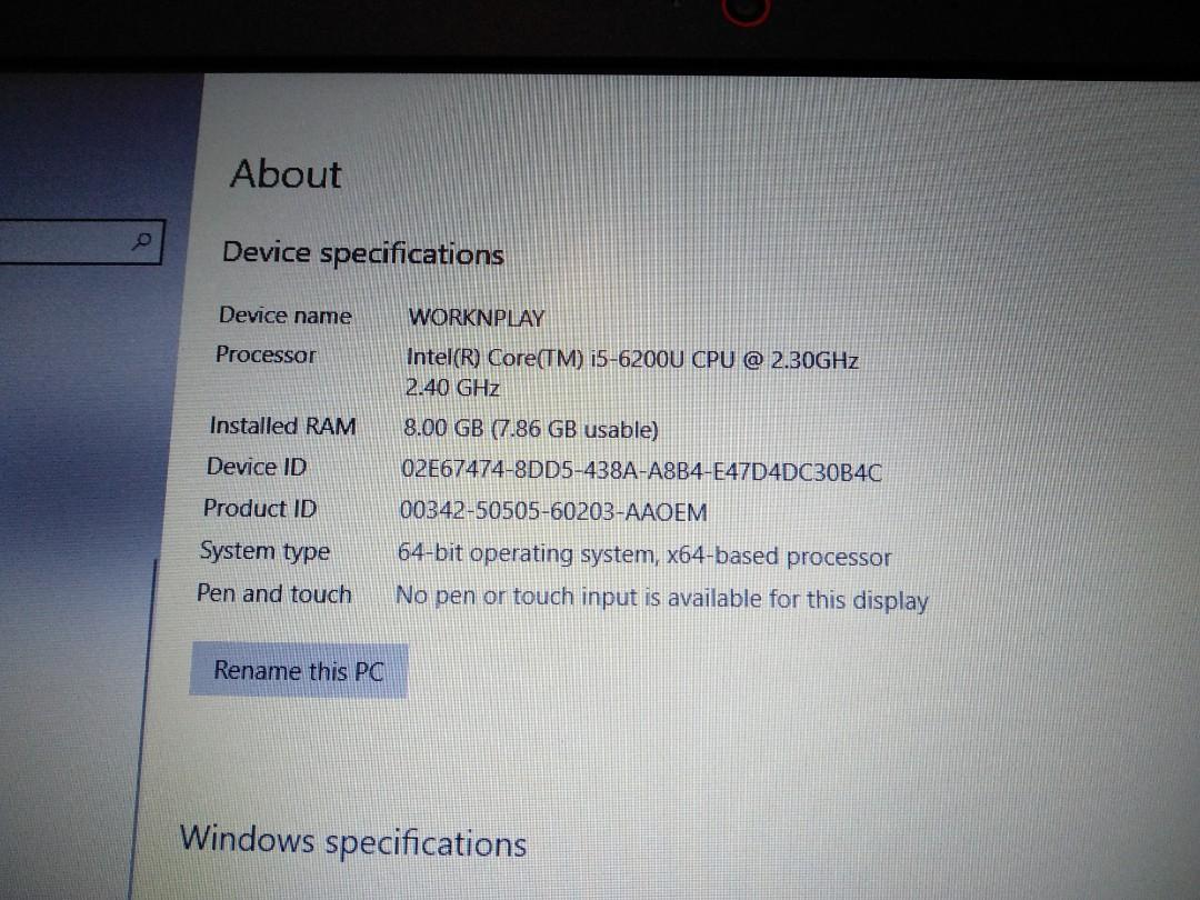 Lenovo Laptop E31