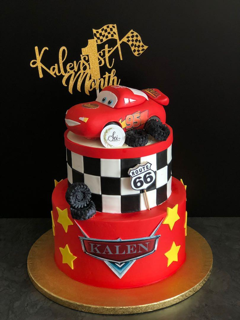 Excellent Lightning Mcqueen Cars Cake Food Drinks Baked Goods On Carousell Funny Birthday Cards Online Overcheapnameinfo