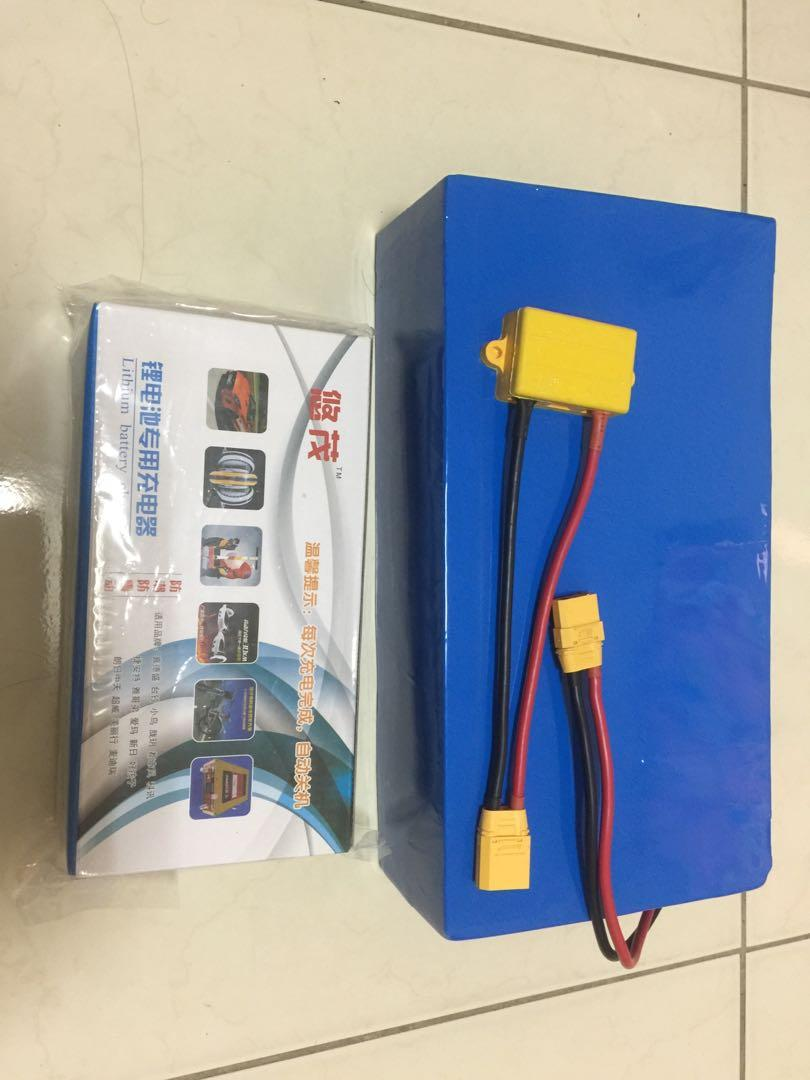 Lithium battery with Charger, 60v , meetup only