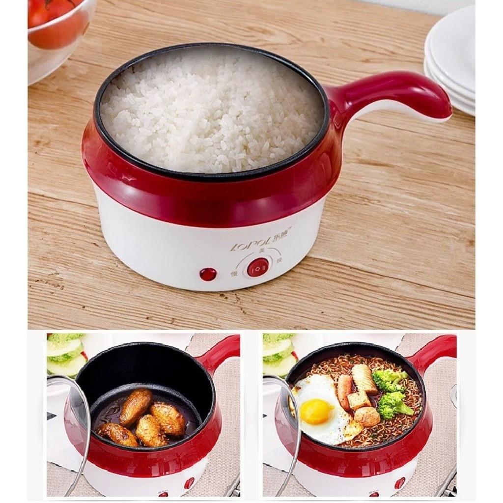 Lopol Electric NonStick Ceramic/Marble Frying Pan Rice Multi Mini Cooker