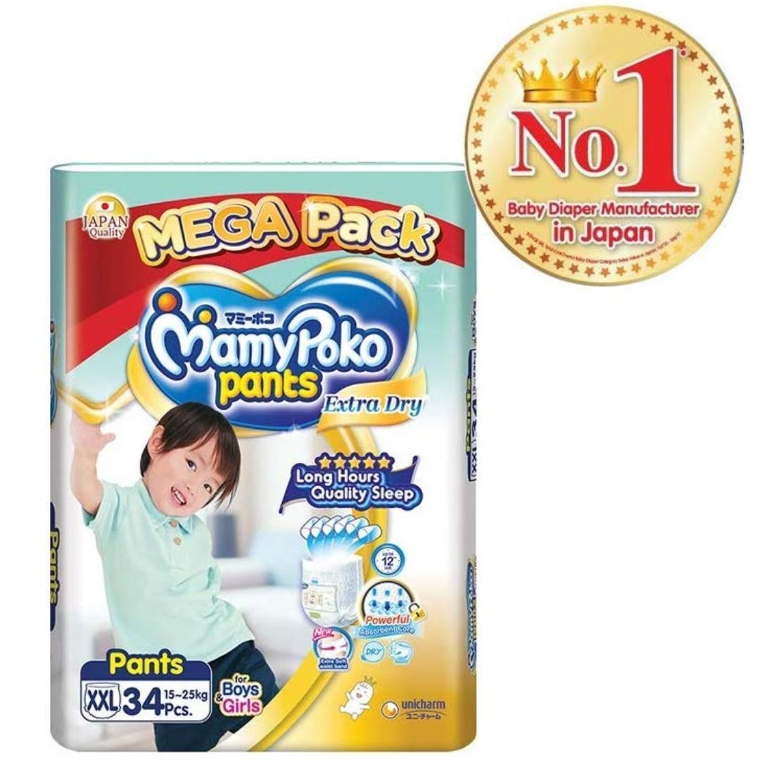 MamyPoko Extra Dry Pants XXL 34 x 3 (15kg++)