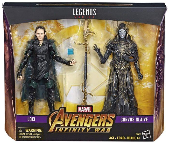 Marvel Legends Corvus Glaive and Loki with Tesseract