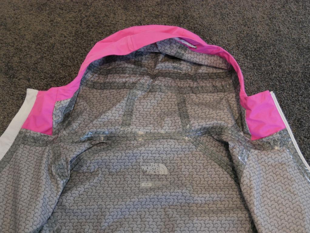 New Northface Pink Hyvent FlashDry Hardshell Jacket Size S