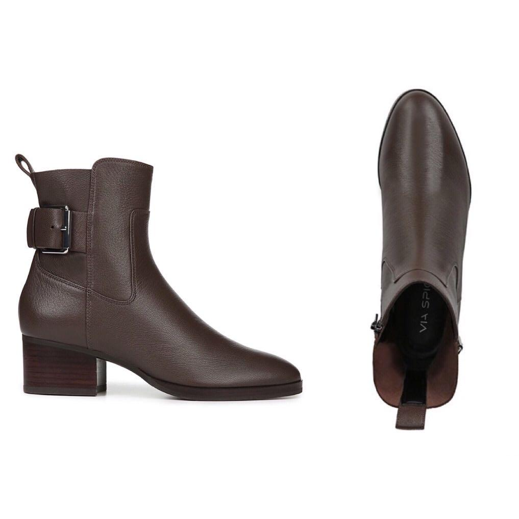 *NWOB* Via Spiga Octavia Leather Buckle Bootie Size 7.5M